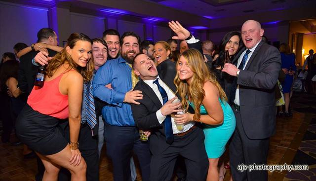 Partying at Frank and Sylva's reception.