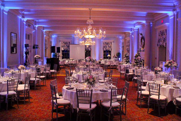 Cooperstown Wedding DJ: Uplighting at Otesaga