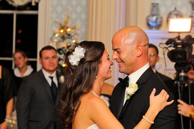 Stephanie and Chris's First Dance at otesaga resort hotel weddings.