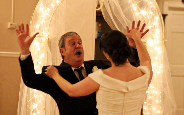 Father Daughter Dancing at Club Monarch Wedding.